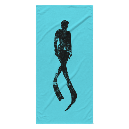Freediver Silhouette Beach Towel - KOBU.US