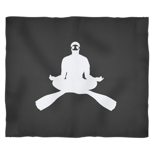 CROSS LEGGED MEDITATING FREEDIVER FLEECE BLANKET - KOBU.US