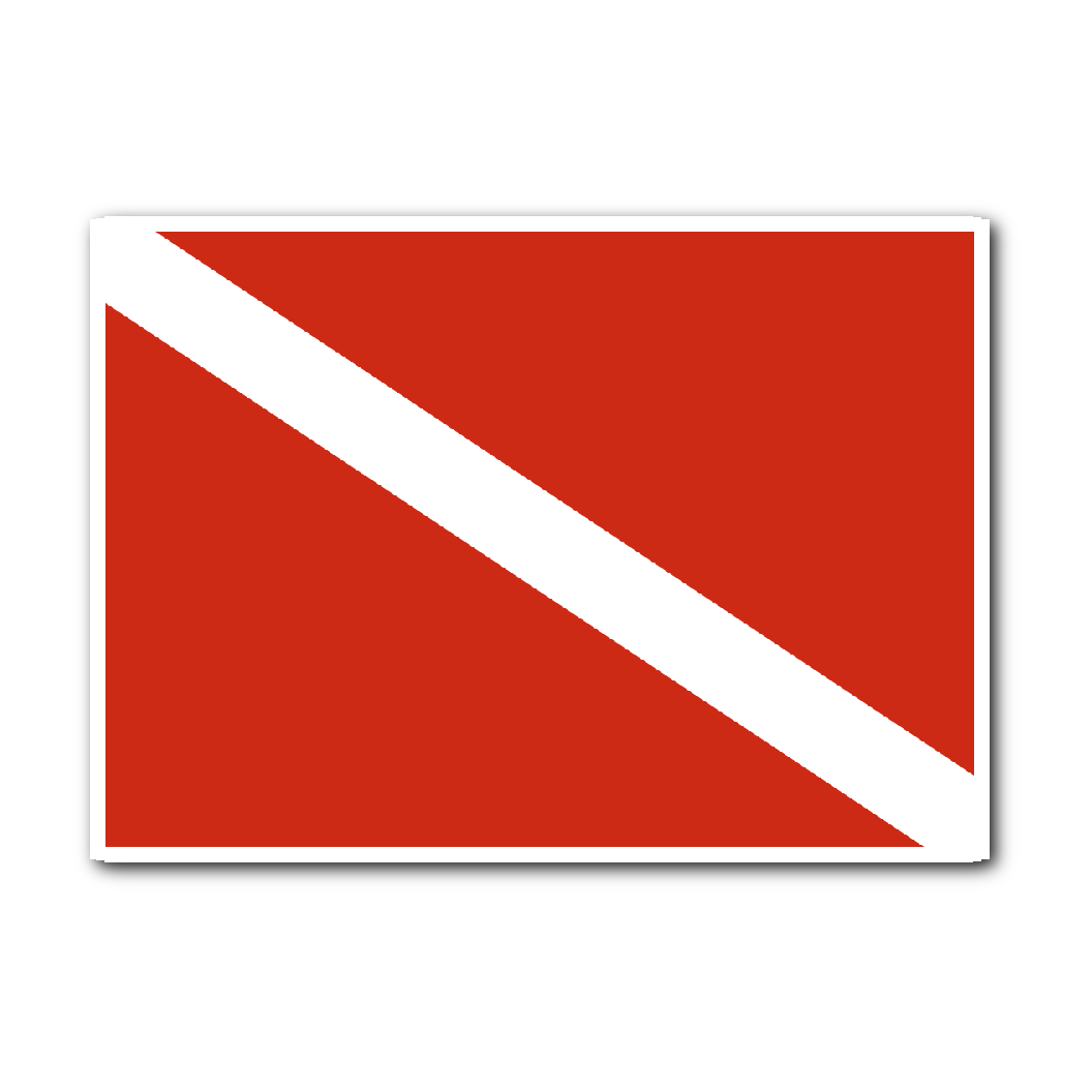 Dive Flag Sticker - KOBU.US