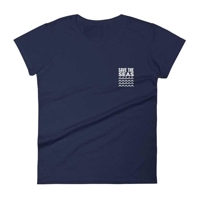 Save The Seas Women's T-shirt Save The Ocean Conservation Surf Tee - KOBU.US