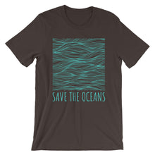 Save The Oceans Wave Surf Tee Unisex Men's And Women's Ocean Conservation T-Shirt - KOBU.US