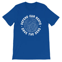 Defend Our Reefs Save The Seas Unisex Men's And Women's Ocean Conservation T-Shirt - KOBU.US