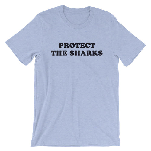 Protect The Sharks Unisex Men's & Women's Shark Conservation Retro Vintage Style Beach T-Shirt - KOBU.US