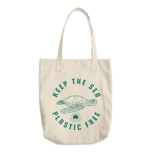 Keep The Sea Plastic Free Sea Turtle Bag Reusable Cotton Tote Bag - KOBU.US