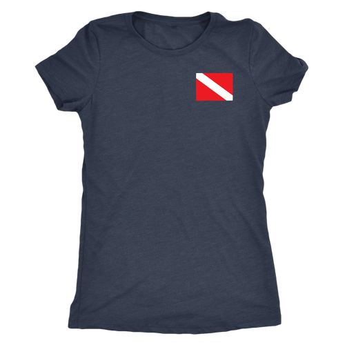 Diver Flag On Chest Women's T-Shirt - KOBU.US
