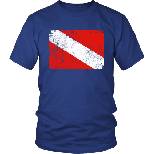 Vintage Worn Dive Flag T-Shirt For Women and Men - KOBU.US