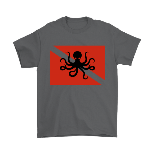 Octopus Dive Flag Men's T-Shirt - KOBU.US