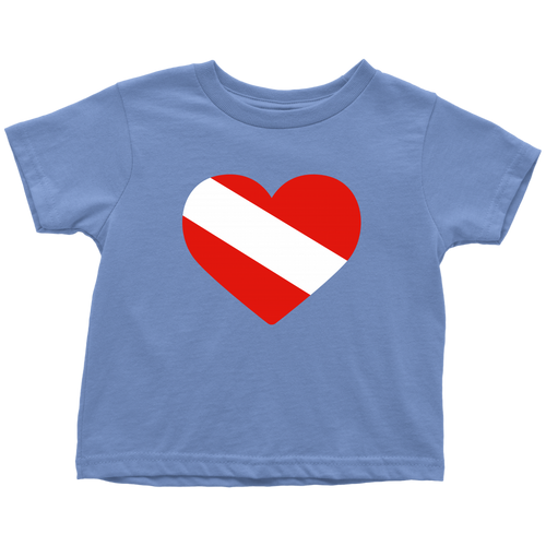 Diving Flag Heart Toddler T-Shirt - KOBU.US