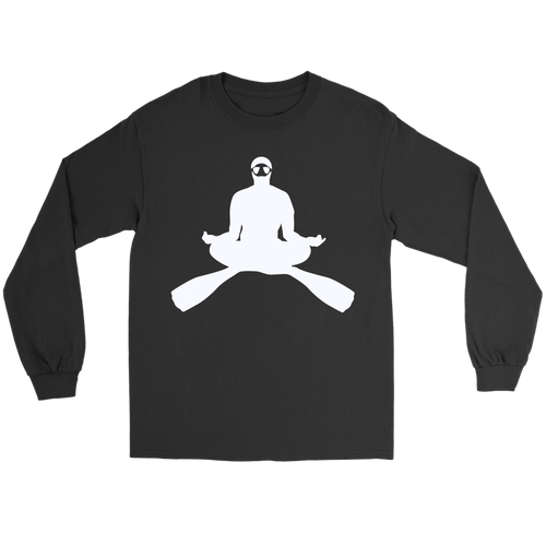 Cross Legged Meditating Freediver Long Sleeve Unisex T-Shirt - KOBU.US