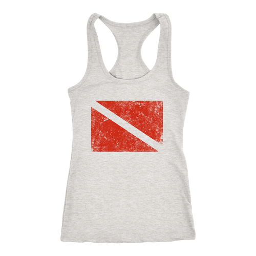 Vintage Style Diving Flag Women's Racerback Tank Top - KOBU.US