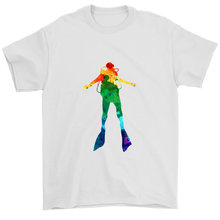 Watercolor Scuba Diver Men's T-Shirt - KOBU.US