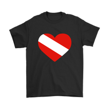 Diving Flag Heart Men's T-Shirt - KOBU.US