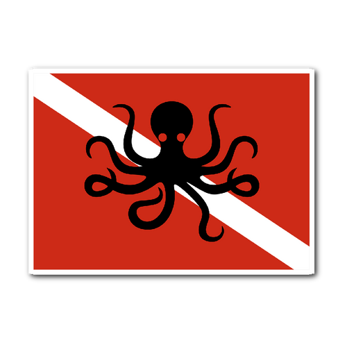 Octopus Dive Flag Sticker - KOBU.US