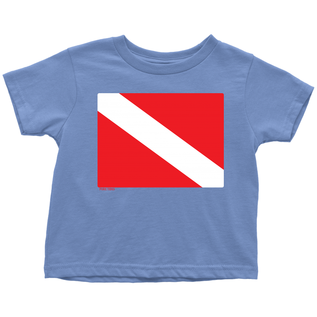 Diver Down Flag Diving T-Shirt For Toddlers - KOBU.US