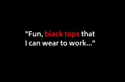 Black Work Tops