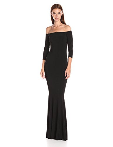 Norma Kamali Off Shoulder Fishtail Gown