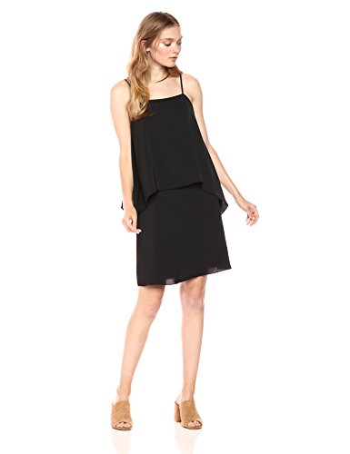 PARIS SUNDAY Spaghetti Strap Layered Shift Dress