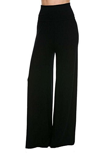 Superline Wide Leg High Fold Over Waist Palazzo Pants