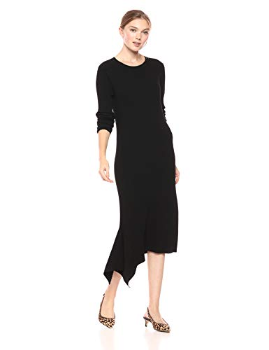 Cable Stitch Handkerchief Hem Ribbed Dress