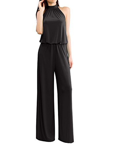 URBAN High Neck Halter Jumpsuit