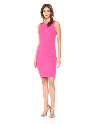 Calvin Klein Scuba Crepe Princess Seam Sheath Dress