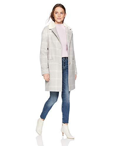 Levi's Wool Plaid Sherpa Collar Top Coat