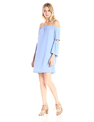 Kensie Crepe Off the Shoulder Dress