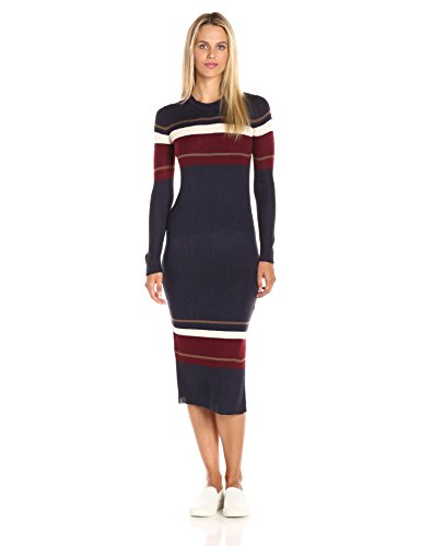 ASTR  Colorblock Midi Sweater Dress