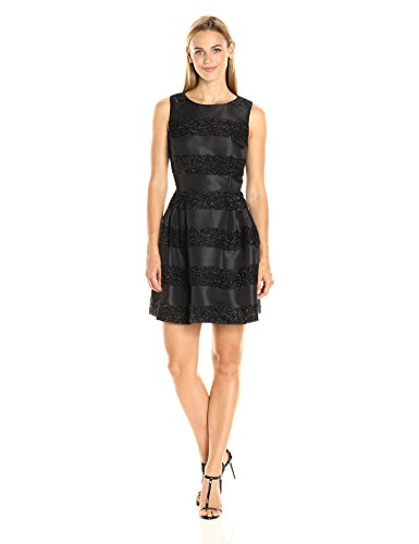 CeCe by Cynthia Steffe Claiborne Lurex Stripe A-Line Dress