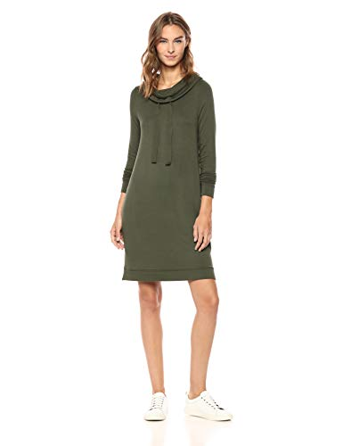 Daily Ritual Supersoft Terry Funnel-Neck Dress
