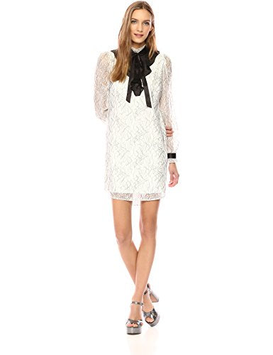 Wild Meadow Long Sleeve Ruffle Collar Dress Neck Tie