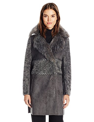 Elie Tahari Veronica Shearling Faux Fur Coat