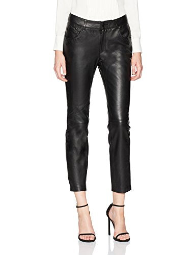 Anne Klein Leather Straight Leg Pant
