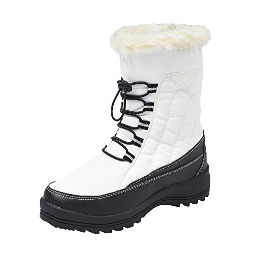 Shenda Drawstring Snow Boots Fur Lined Boots