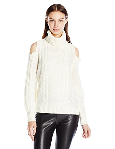 Noisy May Petra Long Sleeve Open Shoulder Roll Neck Sweater