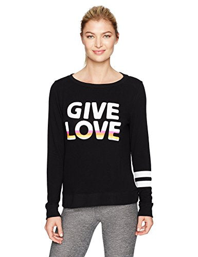 Betsey Johnson Give Love Stripe Lightweight Pullover
