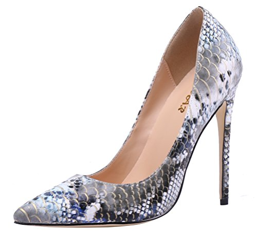 AOOAR Snakeskin-Print High Heel Pumps
