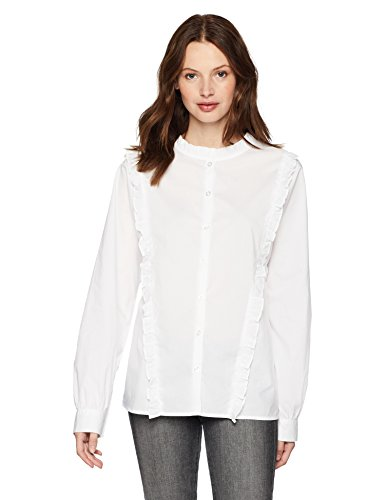Serene Bohemian Frilled Cotton White Shirt