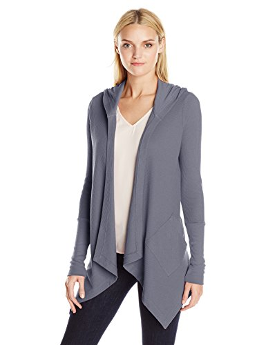 Splendid Thermal Wrap Hooded Cardigan Sweater