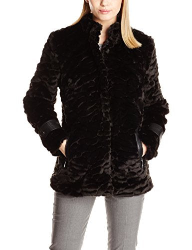 Belle Badgley Mischka Grace Faux Fur Coat