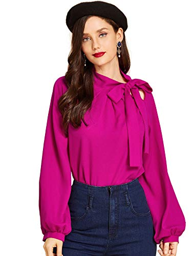 SheIn Side Bow Tie Neck Top