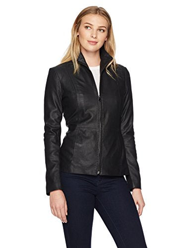 Lark & Ro Scuba Leather Jacket