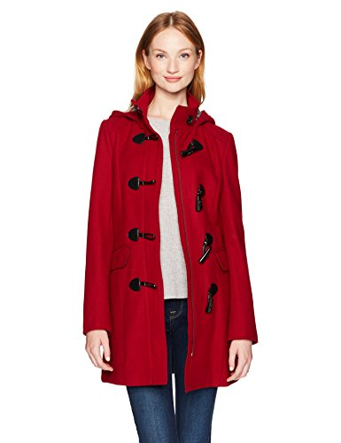 Tommy Hilfiger Wool Blend Classic Hooded Toggle Coat