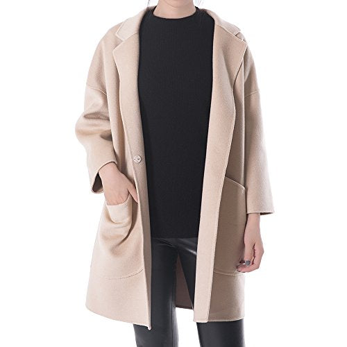 OYEAHGIRL Wool Outerwear Coat