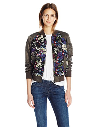 French Connection Rivera Floral Bomber Jacket