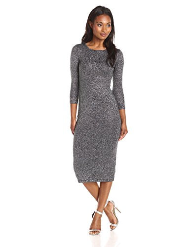 French Connection Bianca Lurex Long-Sleeve Knit Dress