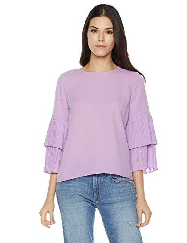 Plumberry Ruffle Sleeve Blouse