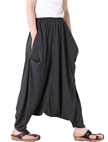 Mordenmiss Casual Drop Crotch Harem Pants
