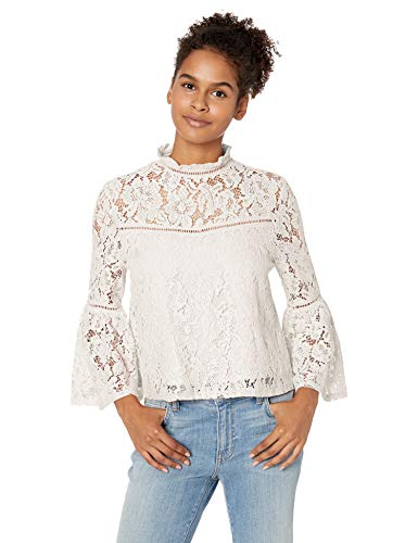 Jack Wild Heart Floral Lace Bell Sleeve Top