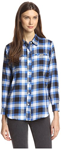 James & Erin Flannel Plaid High-Low Shirt